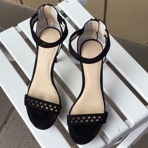 Calvin Klein black suede platform sandals. 6-1/2